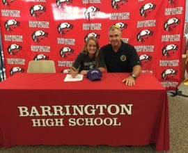 Carly Kordich signing Winona state