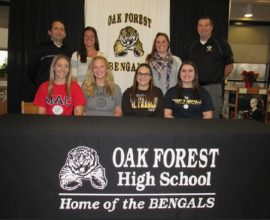 Maddie Keating currently attending Oak Forest high school, signing with University of St. Francis
